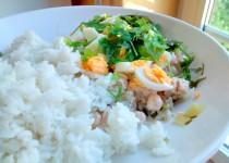 Salada de Atum com Arroz de Manteiga