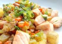 Salada de Batata com Salmão