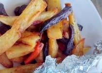 Batatas e Vegetais Assados