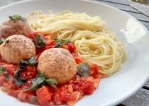 Almôndegas de Soja em Molho de Tomate