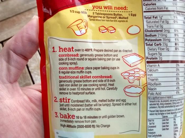 Betty-Crocker-Cornbread-Muffin-Mix-Instrucoes