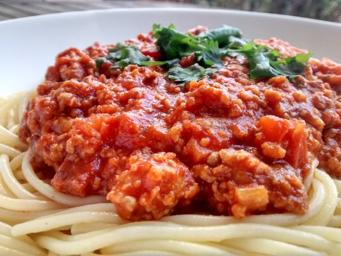 Bolonhesa-Esparguete-Carne-e-Soja