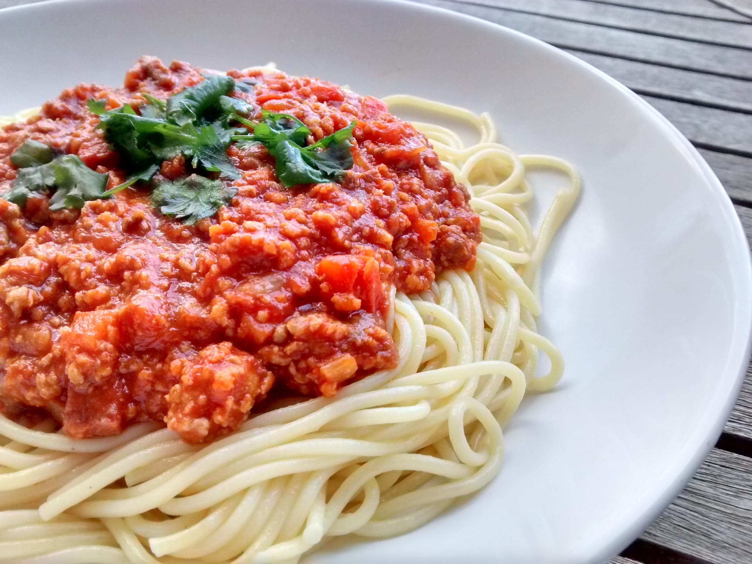 Resultado de imagem para esparguete à bolonhesa soja