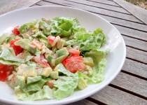 Salada de Alface e Abacate