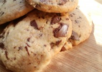 Cookies de Chocolate e Coco