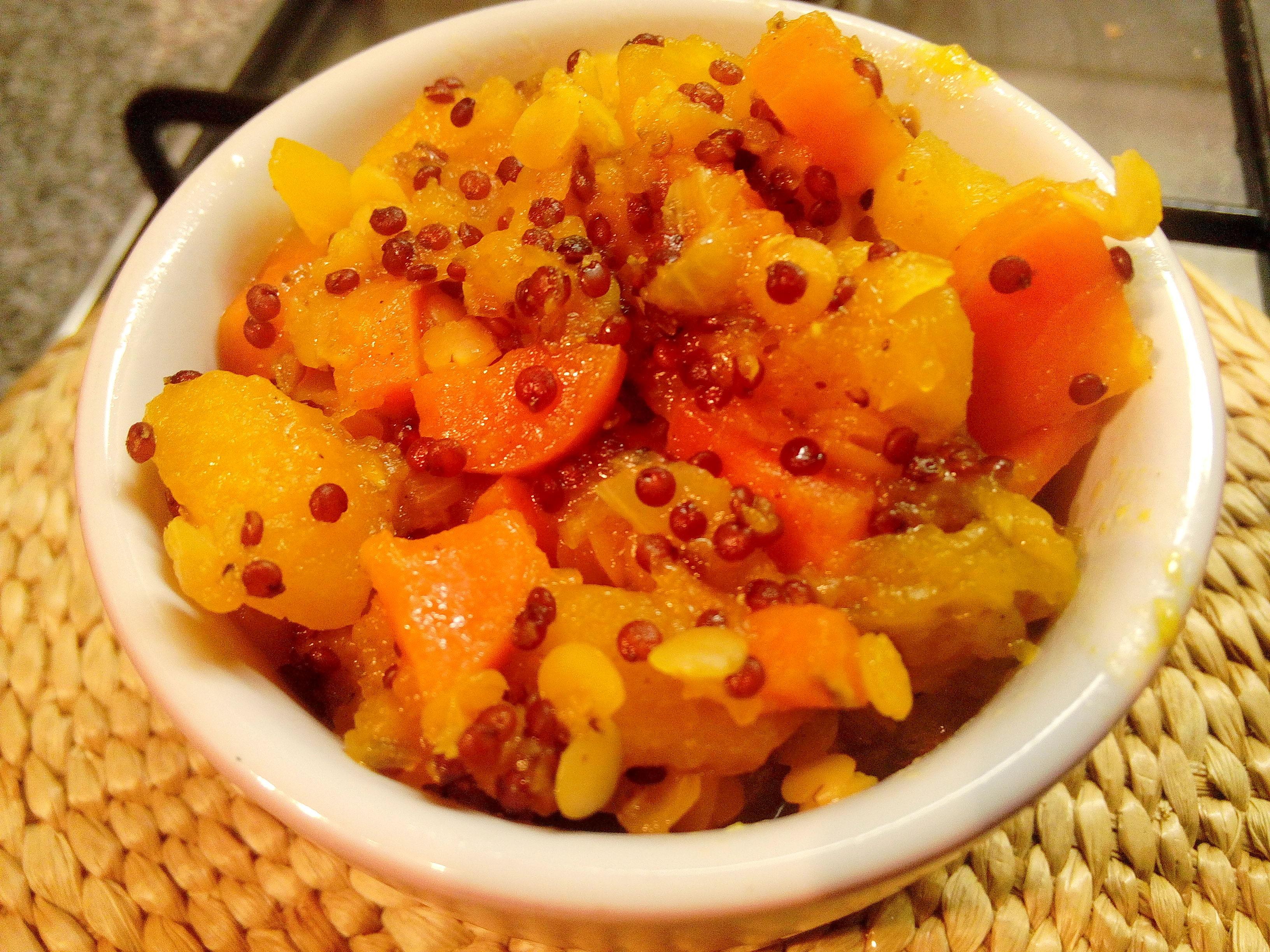 Abobora-Guisada-com-Quinoa-Lentilhas