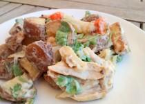 Salada de Frango e Batata Assada