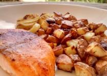 Salmão com Batatas no Forno