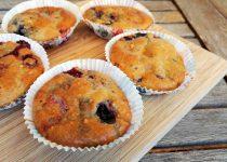 Cupcakes Saudáveis de Frutos Silvestres