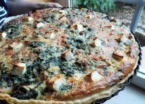 Quiche de Bacalhau e Espinafres