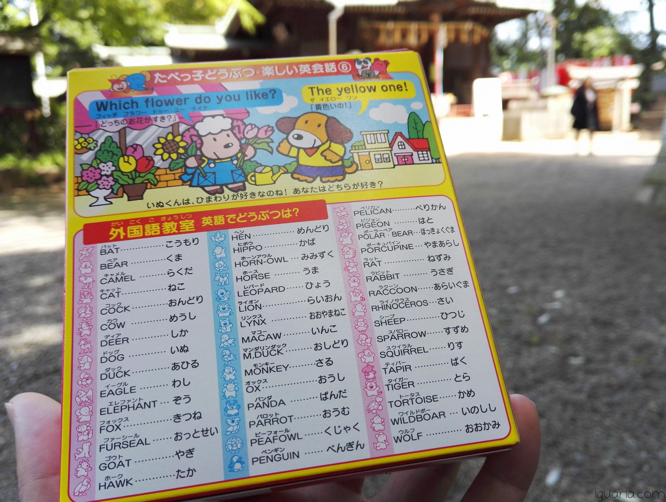 iguaria-nomes-de-animais-em-japones