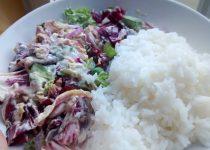Salada com Atum e Arroz