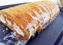 Torta de Cenoura e Queijo Creme